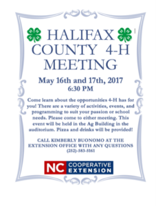 Cover photo for Come One & All to the County Wide 4-H Meeting!