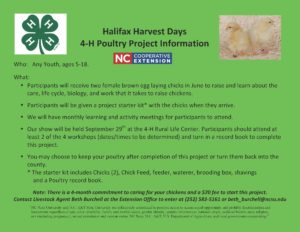 Halifax Harvest Days 4-H Poultry Project flyer image