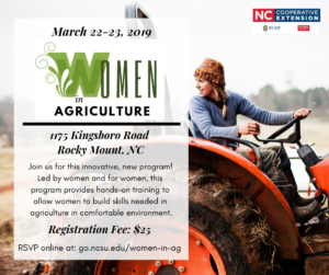 Women in Agriculture flyer image
