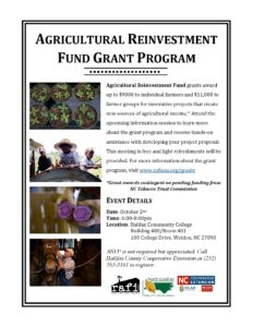 Cover photo for Agricultural Reinvestment Grant Program Fund Informational Meeting
