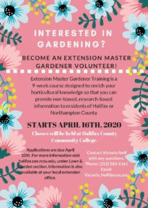 Cover photo for Master Gardener Volunteer Class 2020